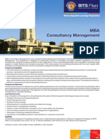 MBA in Consultancy Management