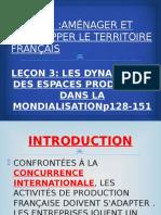 LES DYNAMIQUES DES ESPACES PRODUCTIFS DANS LA MONDIALISATION