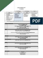 lista de utiles 2° básico 2017