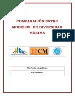 Comparacion Entre Modelos de Diversidad Maxima