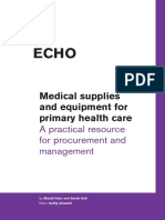 Medical supplies and equipment for primary health care. A practical resource for procurement and management..pdf