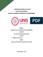 Informe Final de Intervencion de Enfermeria
