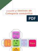 Dados y Láminas de Categoría Semántica