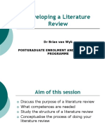 Developing a Literature Review