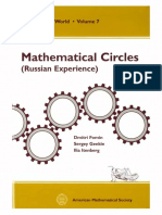 Mathematical Circles (Russian Experience) -(Mathematical World 7) D. Fomin, S. Genkin, I. Itenberg-American Mathematical Society (1996)