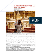 MISA POR EL RECONOCIMIENTO DE LA FIBROMIALGIA, SFC, SSQM