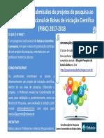 Divulgação PIBIC (2017-2018)