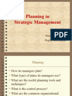 Planning in Strategic Management