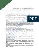 ServiceNow Sample Resume 2