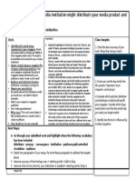 Evaluation 3- Feedback sheet