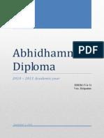 Abhidhamma Diploma (2010 - 2011)