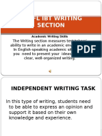 TOEFL IBT Writing Section