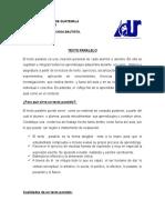 Parametros Texto Paralelo Proyectos II