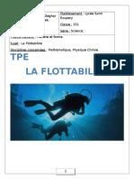 TPE sur la fllotabilité 2017 - Lycée saint-éxupery