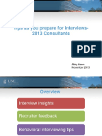 2013 Consulting Students Interview Tips