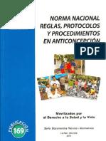 Norma Nacional Reglas, Protocolos y Procedimientos en Anticoncepción