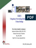 949 URUS Ubiquitous Networking Robotics for Urban Settings