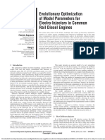 Evolutionary Optimization of Model Parameters for Electro Injectors in Common Rail Diesel Engines