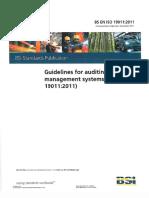 Auditing to BS EN ISO 19011-2011