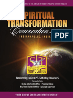 4th Episcopal District Spiritual Transformation Convocation Schedule