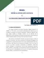 Hegel. Entre La Gnosis Anticatolica y La Teologia Cristiano Protestante