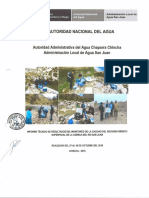 Monitoreo de Aguas Superficiales 2015 San Juan