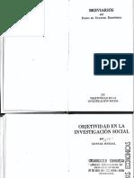 Myrdal_La Objetividad en La Investigacion Social