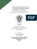 Analisis Kinerja Keuangan Dan Corporate Governance Terhadap Terjadinya Kondisi Finansial Distress