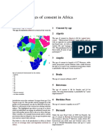 Ages of Consent in Africa