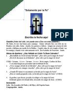 Solamente Por La Fe Español