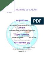 Reporte III de Lengua Española