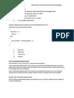 Sample Questions for ITT