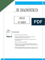 Prueba de Diagnostico Lenguaje 6 básico
