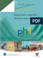 Balance Hidrico Peru