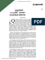 La Jornada_ Seguridad Societal Versus Sociedad Abierta