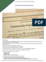 Neumonía Adquirida en La Comunidad_ Revisión Del Artículo Del NEJM Del 2014