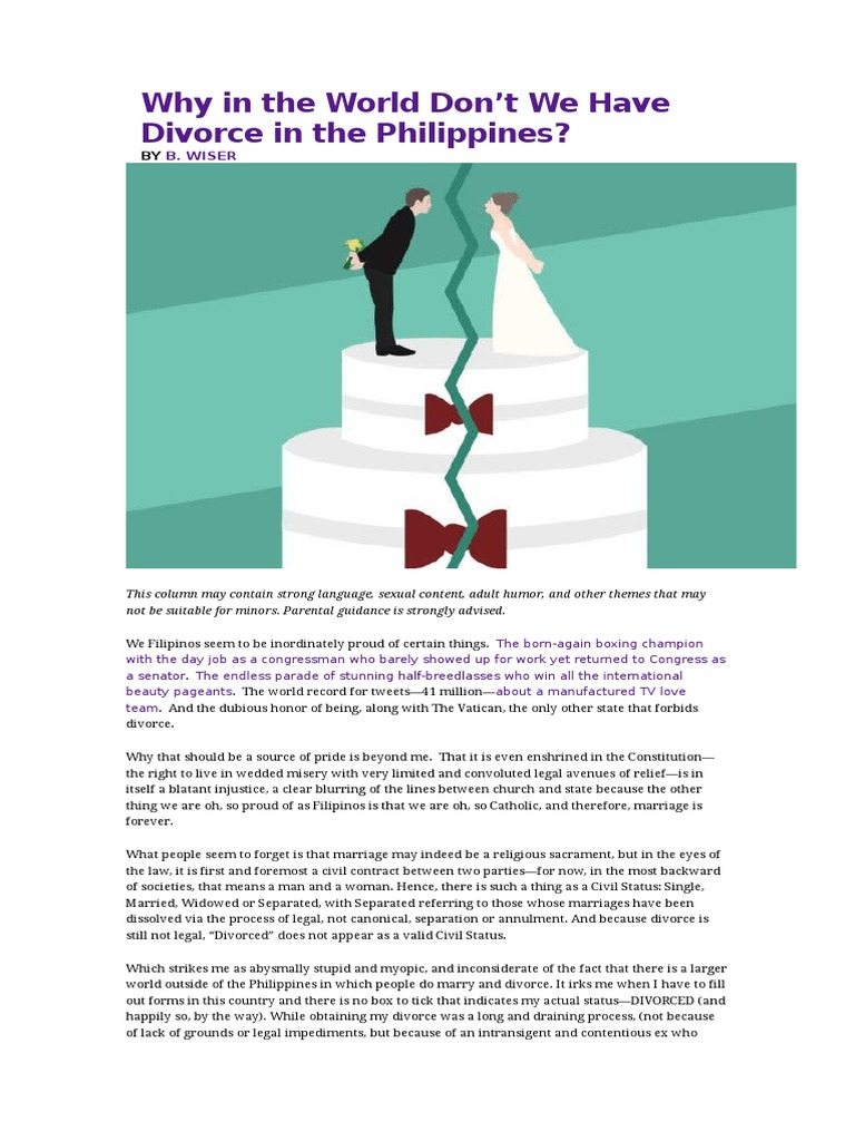 divorce in philippines 877 thoughts on  annulment, divorce and legal separation in the philippines: questions and answers  kpm_0301 january 22, 2007 at 4:54 am dear atty, i would like to inquire abt the bigamy case.