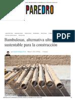 Bambulosas, Alternativa Ultraligera y Sustentable Para La Construcción