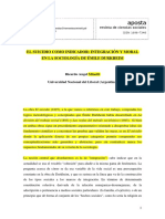 El Suicidio Como Indicador; Integracion y Moral en Durkheim - Minetti