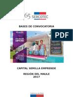 Maule Bases de Convocatoria Semilla Emprende 2017