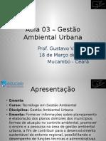Aula 03 e 04– Gestão Ambiental Urbana