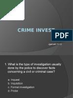 q & a crim invest