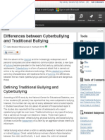 differences between cyberbullying and traditional bullying - student resources in context