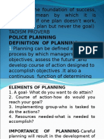 Police Planning
