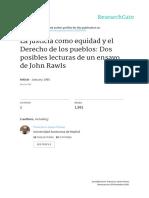 1995 La Justicia Como Equidad y El Derecho de Los Pueblos
