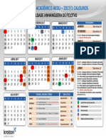 Calendario Presencial 2017.1 Calouros Aedu Pelotas