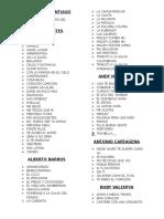 Lista Orquesta Salsa - Cumbia