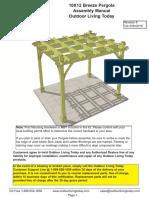 10X12 Breeze Pergola Assembly Manual