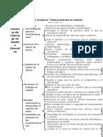 Cuadro Sinoptico Siete Prácticas en Gestión Educativa