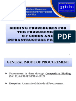 [3] Bidding Procedure for Goods and Infra. [TYTAR]